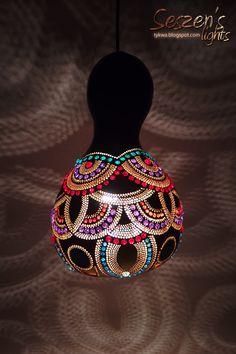 lampa z tykwy, gourd, lamps, tykwa.blogspot.com