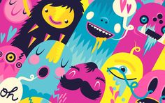 Monsters by Lienke Raben, via Behance #illustration #color #monster