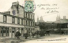 Gare sur carte postale