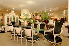 Glamorous dining table - Colleen's Classic Consignment, Las Vegas.