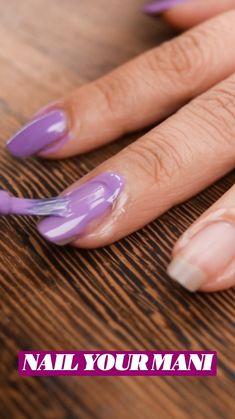 Diy Nails, Cute Nails, Pretty Nails, Diy Beauty, Beauty Tips, Beauty Hacks, Organize Nail Polish, Life Hacks, Best Acrylic Nails