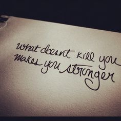 What Doesn't Kill You Makes You Stronger - HealingWell Blog