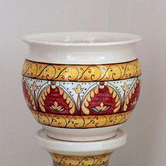 Ceramic vase. Custom container plants. Custom planter.