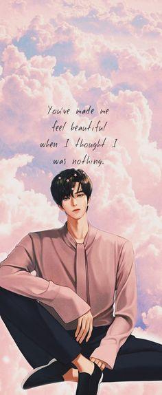 Suho, True Beauty Quotes, The Secret, Angel Wallpaper, Wallpaper Art, Japon Illustration, Angel Aesthetic, Webtoon Comics, Handsome Anime Guys