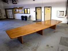 Custom solid oak conference table