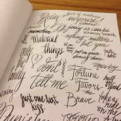 Hand done #type practice. Script. #art #drawing | Flickr - Photo Sharing!
