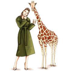 Giraffe  Fashion illustration  Digital by AGizemIllustration #giraffe #fashionsketch #fashionillustration