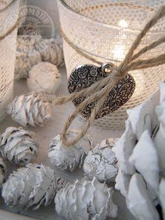 witte herfst decoratie