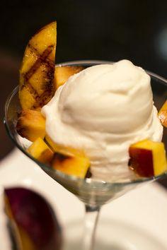 Grilled Peaches with Yagööt Yogurt