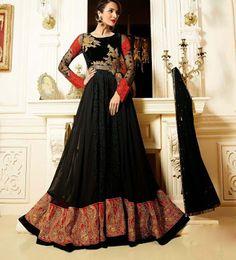 Find #Exclusive #Collections of #Designer #Anarkali With Churidhar #Salwar #Online