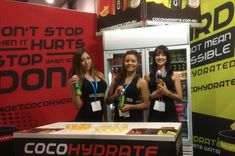CocoHydrate at the Melbourne Health and Fitness Expo.