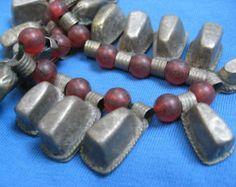 Vintage Ethiopia Metal Telsum Bead Amulets