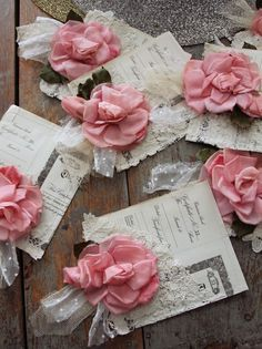 beautiful paper pockets made by Heather of pretty petals