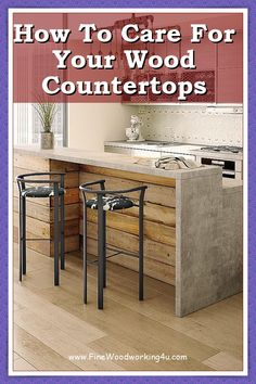 This is possibly the least expensive way to cover up old countertops, especially old wood or linoleum countertops. It's very easy to paint your countertops yourself. Just sand, prime and then paint. You can use a pad sander, but sanding by hand will work just fine. #woodcountertops #woodencountertops Wooden Countertops, Granite Counters, Fine Woodworking, Woodworking Projects, Wood Supply, Wood Surface, House Layouts, Old Wood, Easy Paintings