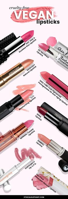 Top 10 Cruelty-Free and Vegan lipsticks (no animal testing and animal ingredients!) shop more on shop.addresschic.com