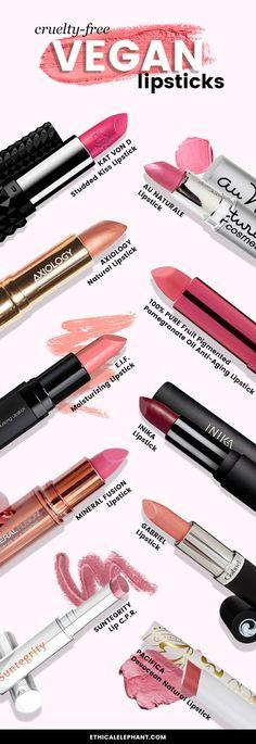 Top 10 Cruelty-Free and Vegan lipsticks (no animal testing and animal ingredients!)