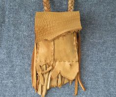 Elk Medicine Bag Leather Neck Pouch  by FolkOfTheWoodCrafts, $25.00