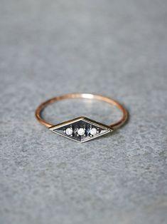 Free People Workhorse  Eike Diamond Ring, £398.00