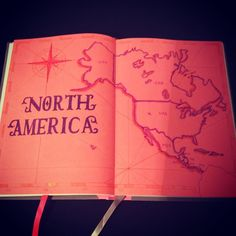 North America ....#map for the #travelbujo .... #bulletjournal…