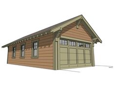 Two car garage with attic plan 480 1a 20 39 x 24 39 10 39 wall for Two car tandem garage
