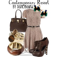 Contemporary Resort, created by lalakay on Polyvore. Wouldn't attempt the shoes, but I love the dress!