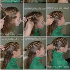 Knotted Braid into Ponytail Tutorial