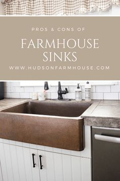 I am been wanting to share with you the pros and cons of farmhouse sinks for a while now and finally able to sit down and share it with you. We got our copper farmhouse sink over a year ago and it is by far one of the most asked questions I get on here … Copper Farmhouse Sinks, Farmhouse Sink Kitchen, Farmhouse Decor, Farmhouse Plans, Modern Farmhouse, Eat In Kitchen, Home Decor Kitchen, Kitchen White, Kitchen Ideas