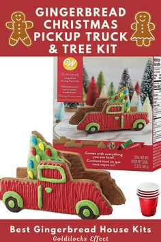 Calling all truck lovers and Farmhouse Christmas enthusiasts. Haul away more fun this holiday season decorating a gingerbread pickup truck, complete with a Christmas tree in the back. From mini villages to candy-themed cottages, here are the most festive, adorable, and easiest-to-DIY gingerbread house kits around in 2020 From traditional gingerbread houses to campers, trains and lighthouses, we've found some unique gingerbread decorating kits. #gingerbreadhouse #gingerbread #gingerbreadhousekit Best Gingerbread House Kit, Gingerbread Cookie Mix, Cardboard Gingerbread House, Cool Gingerbread Houses, Christmas Gingerbread, Christmas Tree, Classic Holiday Movies, Ginger Bread House Diy, Pop Up Play