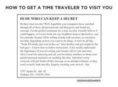 Snag A Time Traveler