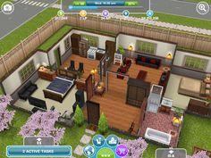 Sim simple house #sims #simsfreeplay #house Sims house Sims freeplay houses Sims 4 house building