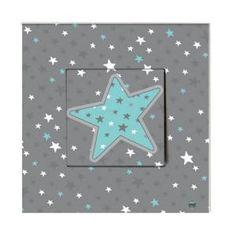 Stickers Interrupteur Bleu étoile