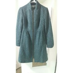 "Anthropologie Pea Coat Beautiful Anthro pea coat in shades of blue and teal. Size 4, hits at the knees on me (I'm 5'4""). Absolutely gorgeous, and in great condition. Looks new: no stains, tears, loose threads, etc. Anthropologie Jackets & Coats Pea Coats"
