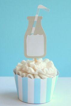 Milk Jug Cupcake Toppers