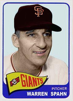 1965 Topps Traded Warren Spahn,   San Francisco Giants, Baseball Cards That Never Were