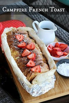Campfire French Toast recipe: Love this idea for a campout breakfast. This Lil Piglet