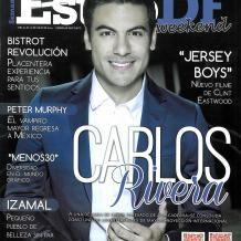 Carlos Rivera en la portada de la Estilo DF. Mi niño que bueno estás.....ufff.
