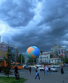 Belgrade is the World....  downtown Belgrade, Serbia