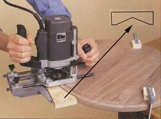 Edge routing a round table #woodworkingtools
