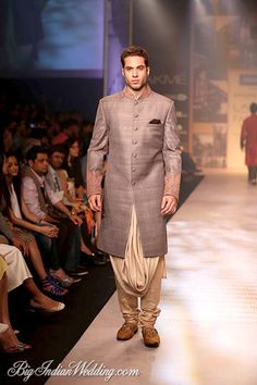 Silver wear for grooms ( Shantanu Nikhil) at lakme Fashion Week 2014