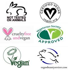 It's never been easier to rock a cruelty-free lifestyle! Whether you're shopping for tasty noms, hot red lippies, cleansing face goo, deodoros, or babeh booty wipes, you betta believe there's a vegan and cruelty-free option. BTW, if you haven't already, mosey on over to Vegan Beauty Review's Cruelty-Free Shopping Guide to find an extensive list of beauty brands that are animal-friendly and Sunny-approved. :) I wanted to highlight some of my favorite cruelty-free logos that