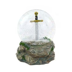Buy the Sword in the Stone Snow Globe - Large from our Tintagel themed gifts at English Heritage online gift shop. Next day and International delivery available. Online Gift Shop, Online Gifts, Sword In The Stone, English Heritage, Bank Holiday Weekend, Dress Up Costumes, Niece And Nephew, Glass Domes, Gifts For Kids