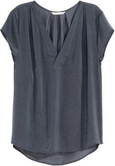 Shop for V-neck Satin Blouse - Dark gray - Ladies by H&M at ShopStyle. Now for Sold Out.
