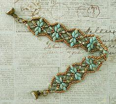 Linda's Crafty Inspirations: Bracelet of the Day: Golden Age Bracelet - Turquoise