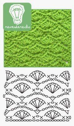 Crochet...Patron pour créer un foulard gaufrette ou autre chose.