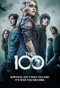 The 100 - Octavia (Marie Avgeropoulos), Finn (Thomas McDonell), Clarke (Eliza Taylor), Jasper (Devon Bostick), Monty (Christopher Larkin), Bellamy (Bob Morley)