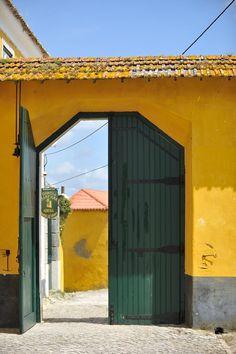 "Quinta de Sant'Ana  ""antique green gate"" Garage Doors, Outdoor Decor, Home Decor, Wedding Shot, Interior Design, Home Interiors, Decoration Home, Carriage Doors, Interior Decorating"