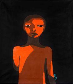"""Joana Taya """"Zagrożone Beauty 02"""", 2015, akryl na płótnie, 110 x 100 cm, dzięki uprzejmości Galerii Tamar Golan"""