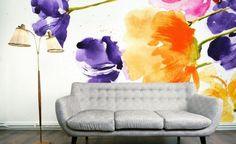 Цветочные обои / Декор стен /
