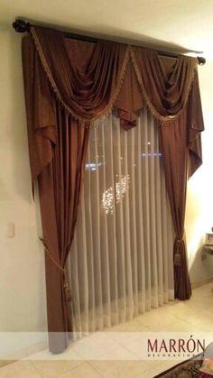 Cortina con Tergal #Curtain #Marron #Hermosillo #Cortinas #Diseño #Interiorismo
