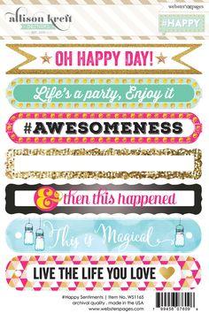 Happy Sentiment 4x6 Sticker